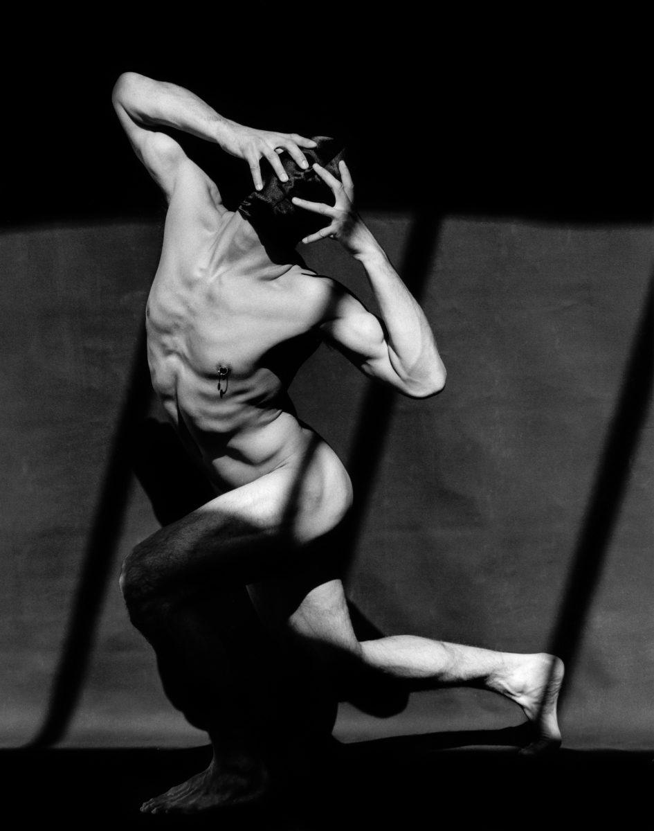 Greg Gorman, Tony Ward with Mask Series, Los Angeles, 1990 © Greg Gorman. Courtesy of 29 Arts in Progress gallery
