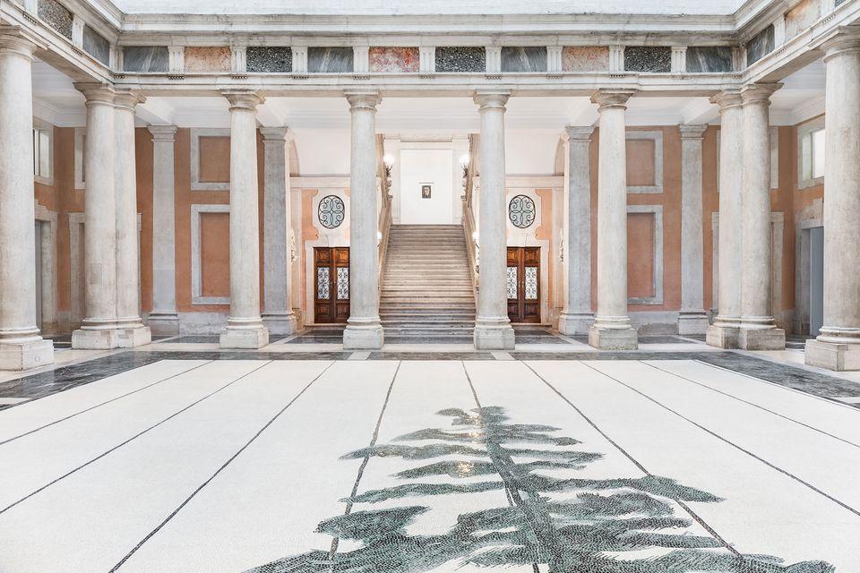Luc Tuymans's Schwarzheide (2019) at the Palazzo Grassi, © Palazzo Grassi, Photo: Delfino Sisto Legnani e Marco Cappelletti