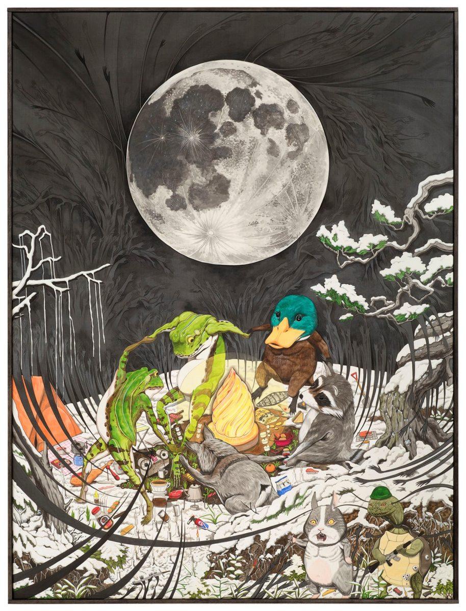 Hun Kyu Kim, Dancing in the Moonlight (Winter Night), 2018. High Art gallery.
