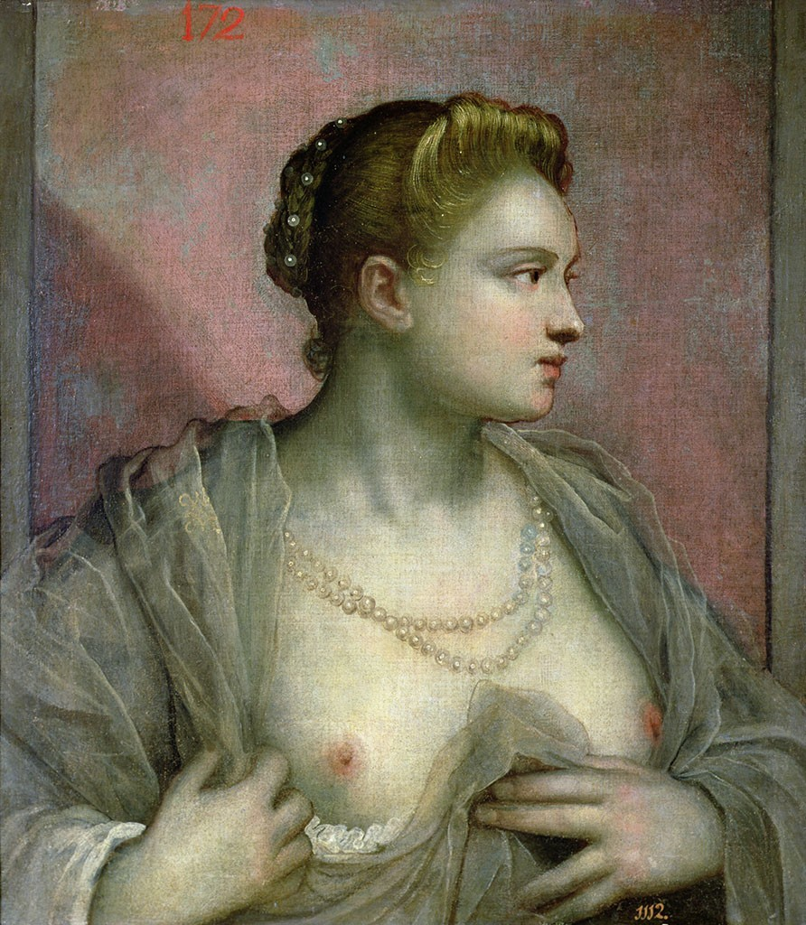 Jacopo_Tintoretto_-_Portrait_of_a_Woman_Revealing_Her_Breasts