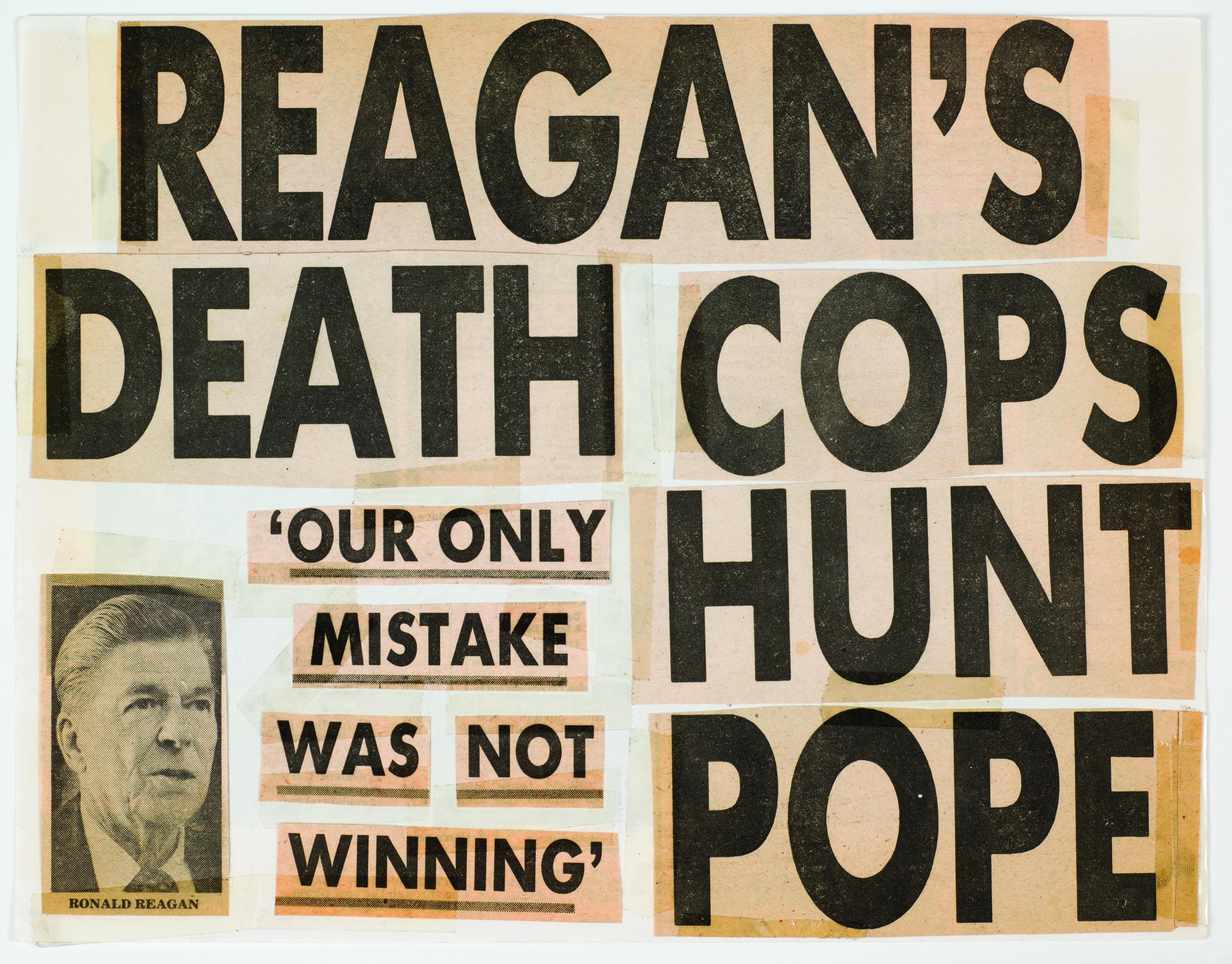 Keith Haring, Reagan's Death Cops Hunt Pope, 1980