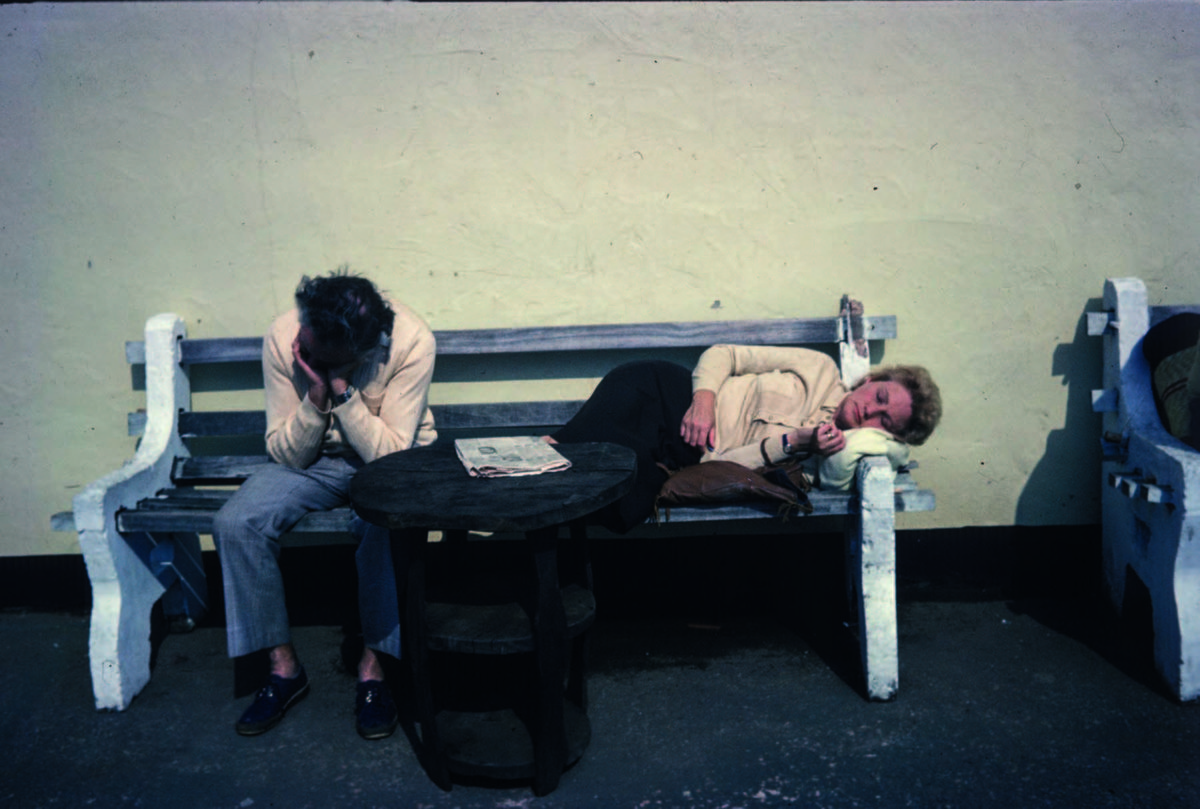 Resting just outside Butlin's Holiday Camp, Minehead, 1979, from the series Butlin Land © Dafydd Jones