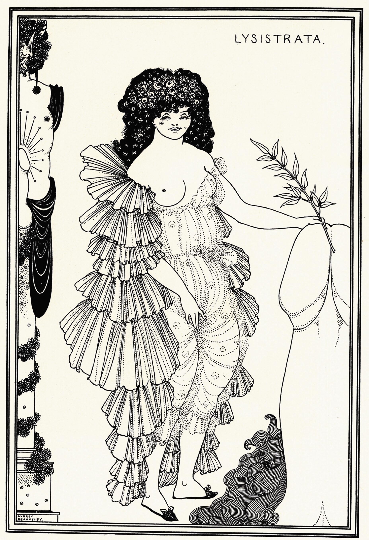 Aubrey Beardsley, Lysistrata Shielding her CoynteI, illustration to Lysistrata by Aristophanes, 1896, Private Collection