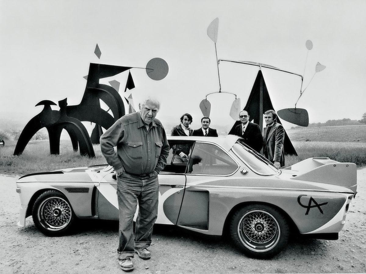 Alexander Calder, designs for BMW 3.0 CSL., 1975. Image courtesy of BMW Art Car Collection