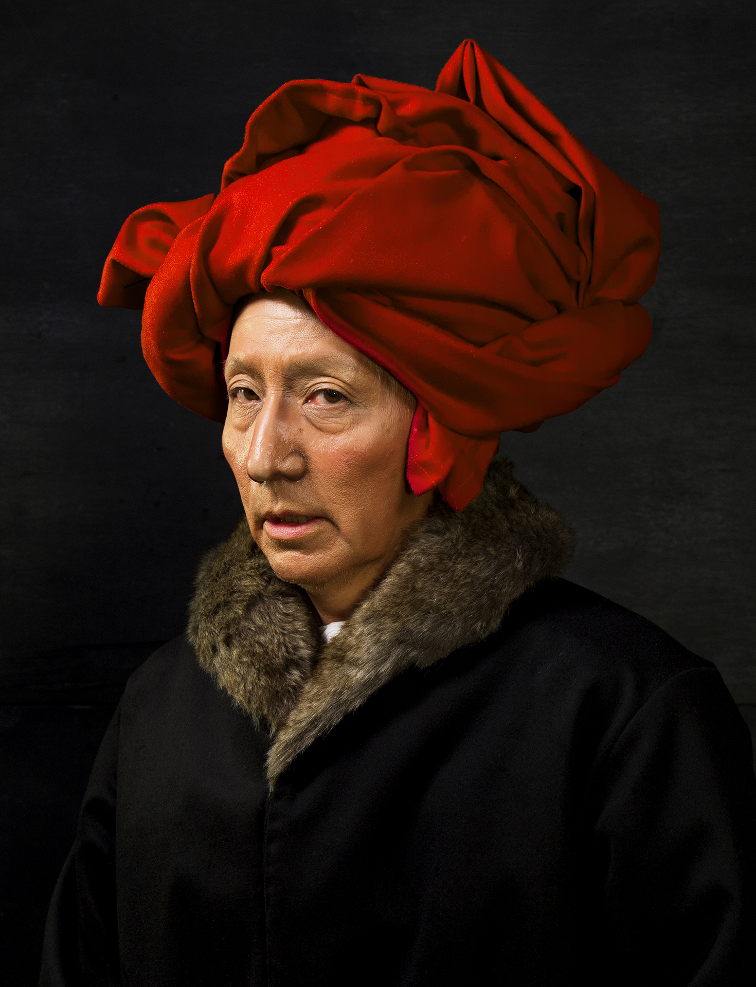 Self-Portraits through Art History (Van Eyck in a Red Turban), 2016. Courtesy of the artist and Luhring Augustine, New York. © Yasumasa Morimura