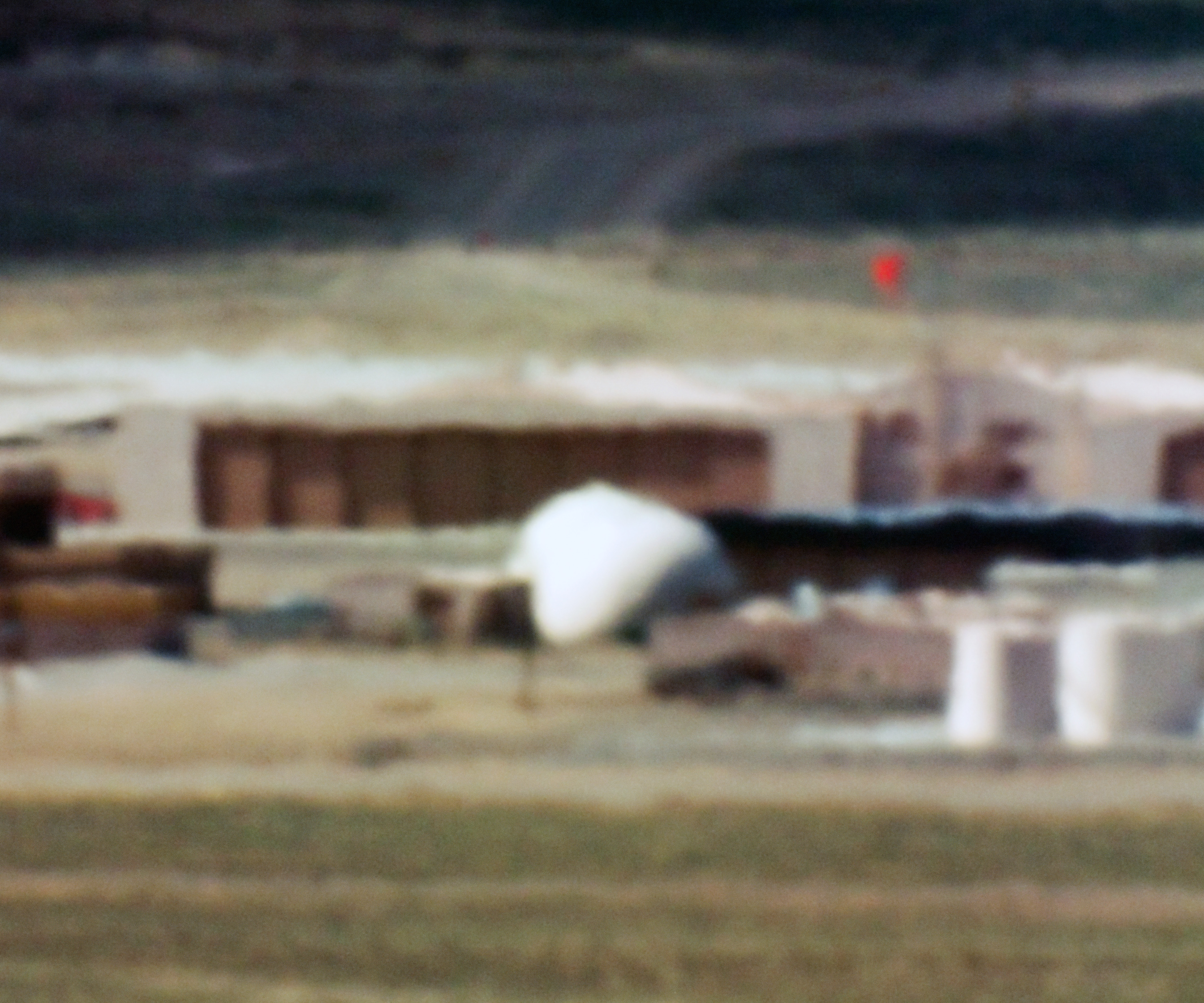 Large Hangars and Fuel Storage; Tonopah Test Range, NV; Distance approx. 18 miles; 10:44 am, 2005