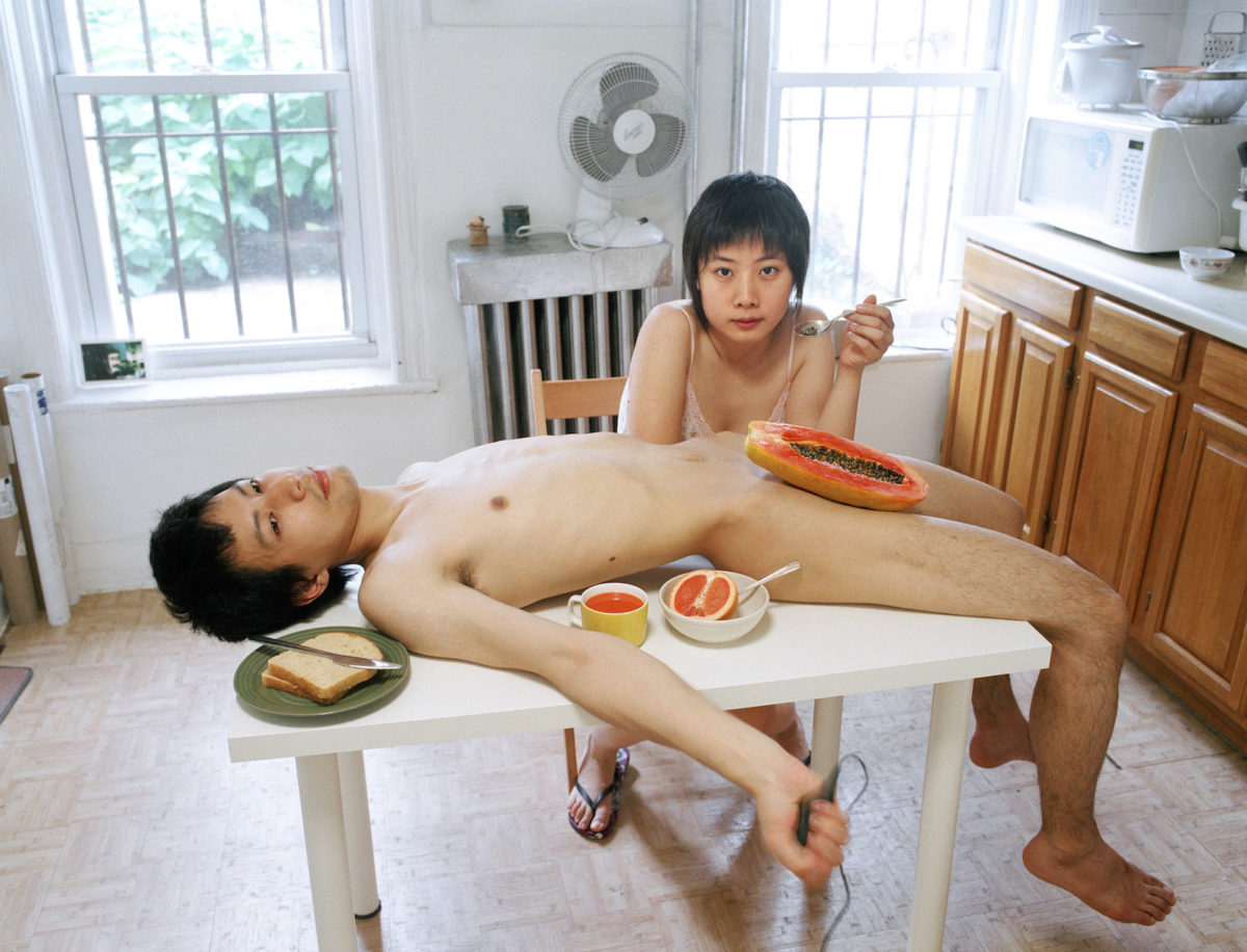 Pixy Liao, Start Your Day with a Good Breakfast Together, from the Experimental Relationship series, 2009. Courtesy the artist