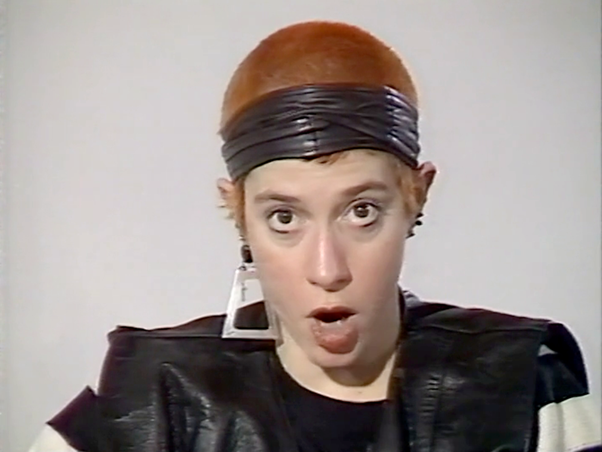 Kathy Acker in conversation with Angela McRobbie at the Institute of Contemporary Arts, 1987. Copyright ICA, London