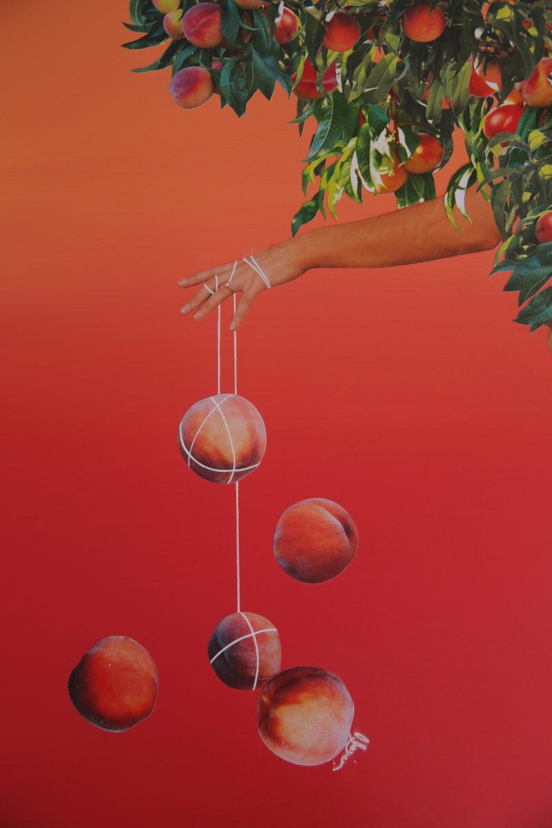 Une Pêcheuse (peach fisherwoman), 2018