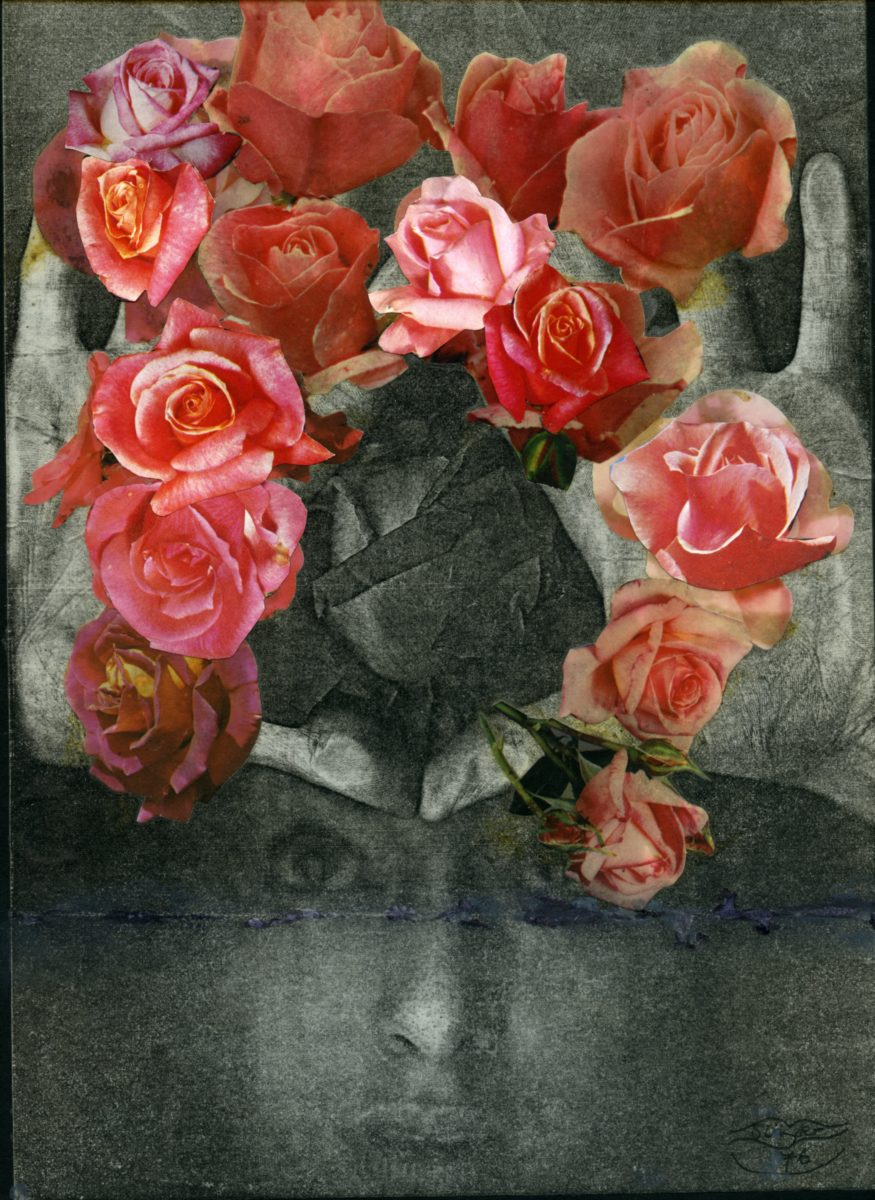 Penny Slinger, Bouquet, 1976 Xerox self body print with collage
