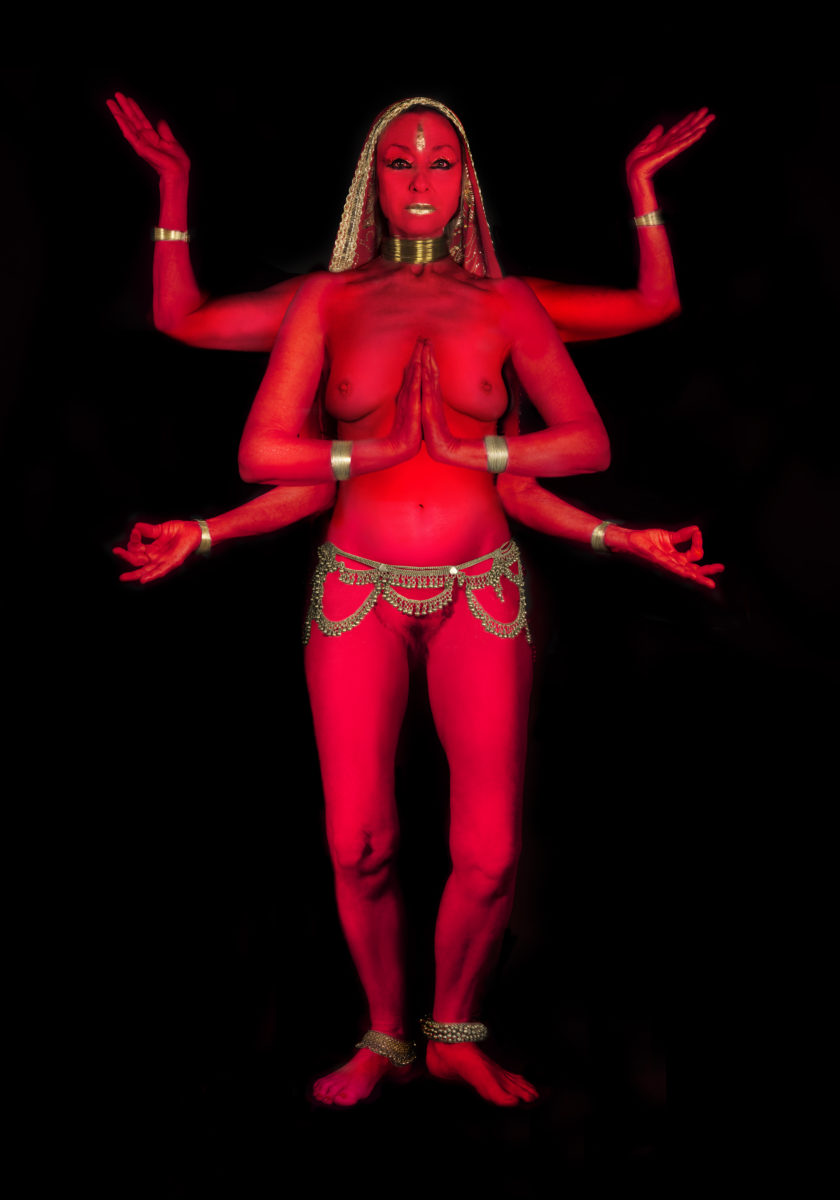 Penny Slinger, Penny Red Dakini, 2019 Digital photo collage
