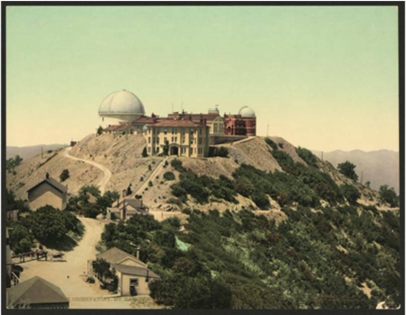 Lick Observatory, Mount Hamilton, California, 1902, photochrome print, Library of Congress, Washington, DC. Picture credit: Library of Congress Prints and Photographs Division, Washington, DC