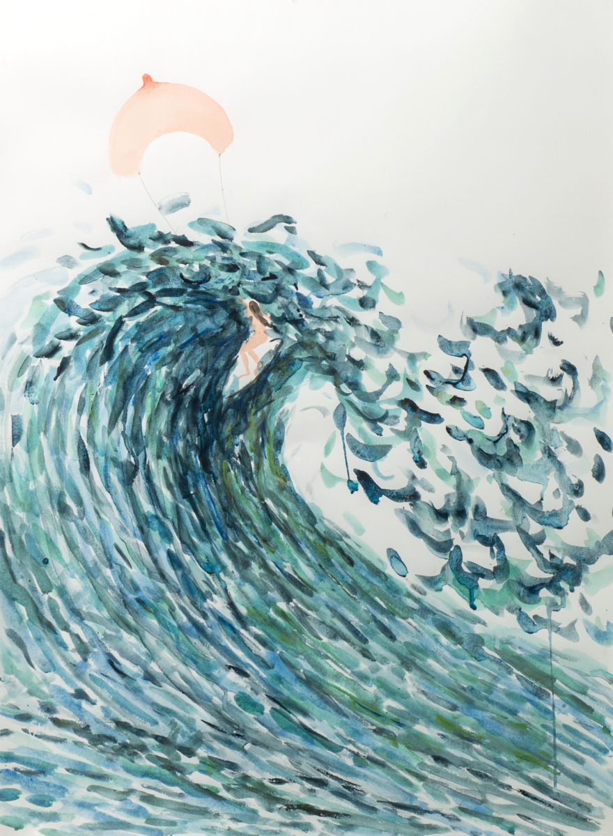 Amy Steel, Surfing, 2018