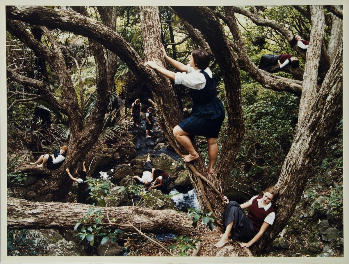 Justine Kurland, Jungle Gym, 2001; Chromogenic color print, 30 x 40 in.; National Museum of Women in the Arts, Gift of Heather and Tony Podesta Collection; © Justine Kurland; Image courtesy of the artist and Mitchell-Innes & Nash, New York