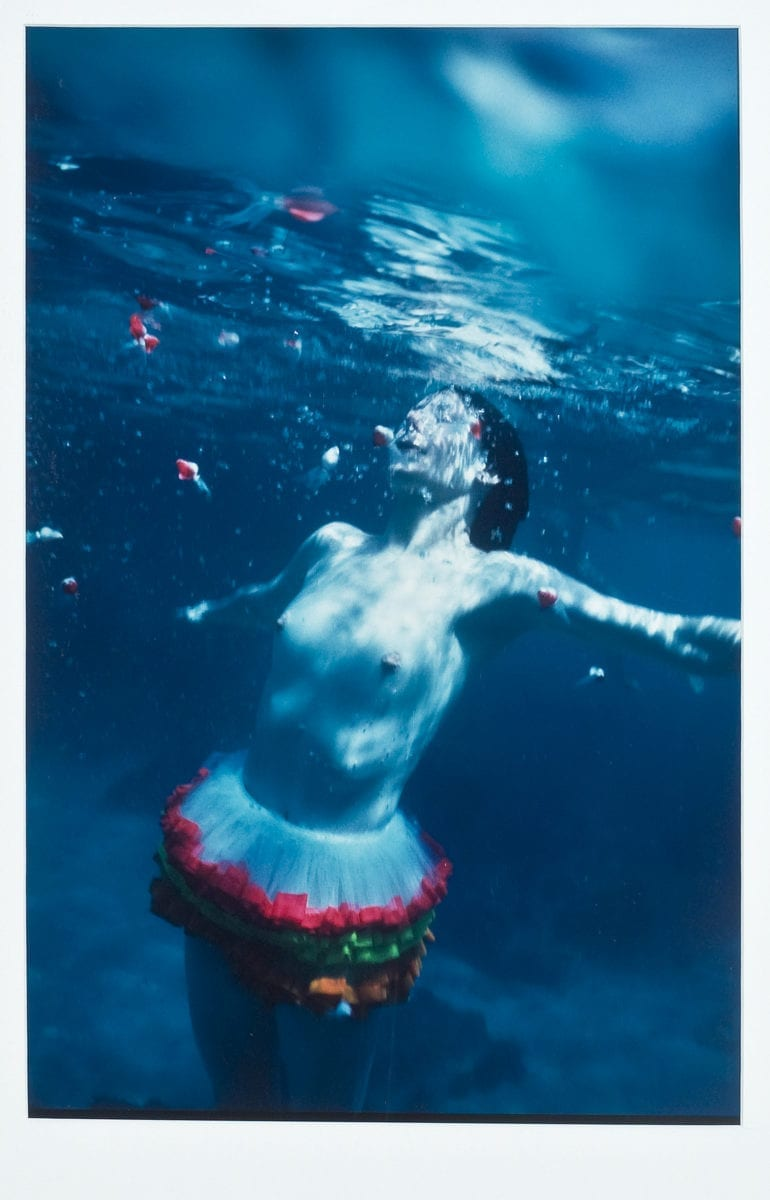 Laurie Simmons, Water Ballet (Vertical), 1981; Chromogenic print, 20 x 16 in.; National Museum of Women in the Arts, Gift of Heather and Tony Podesta Collection; © 2019 Laurie Simmons