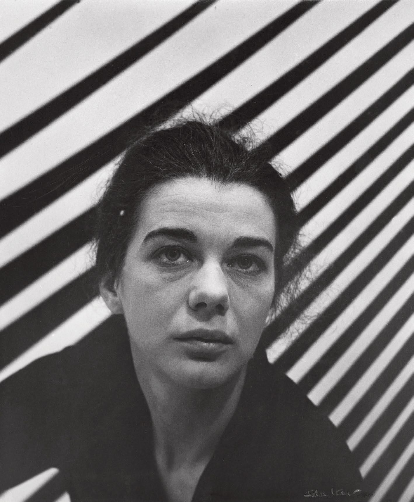 Bridget Riley, 1963, photo by Ida Kar. Image from the book Bridget Riley A Very Very Person.