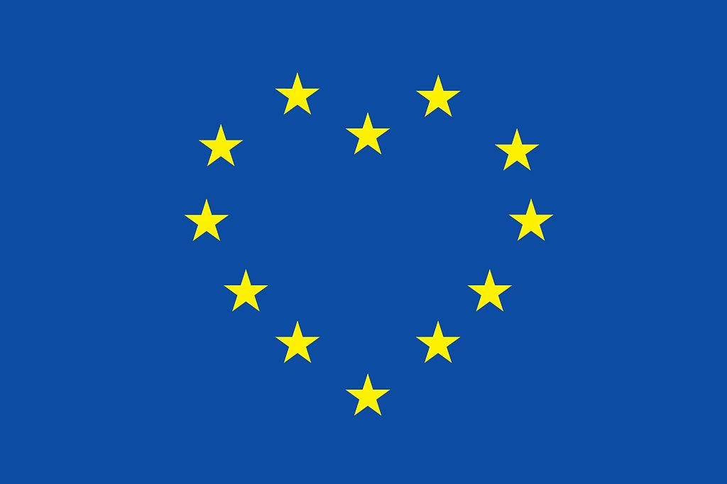 EU Flag Heart via Wiki Commons
