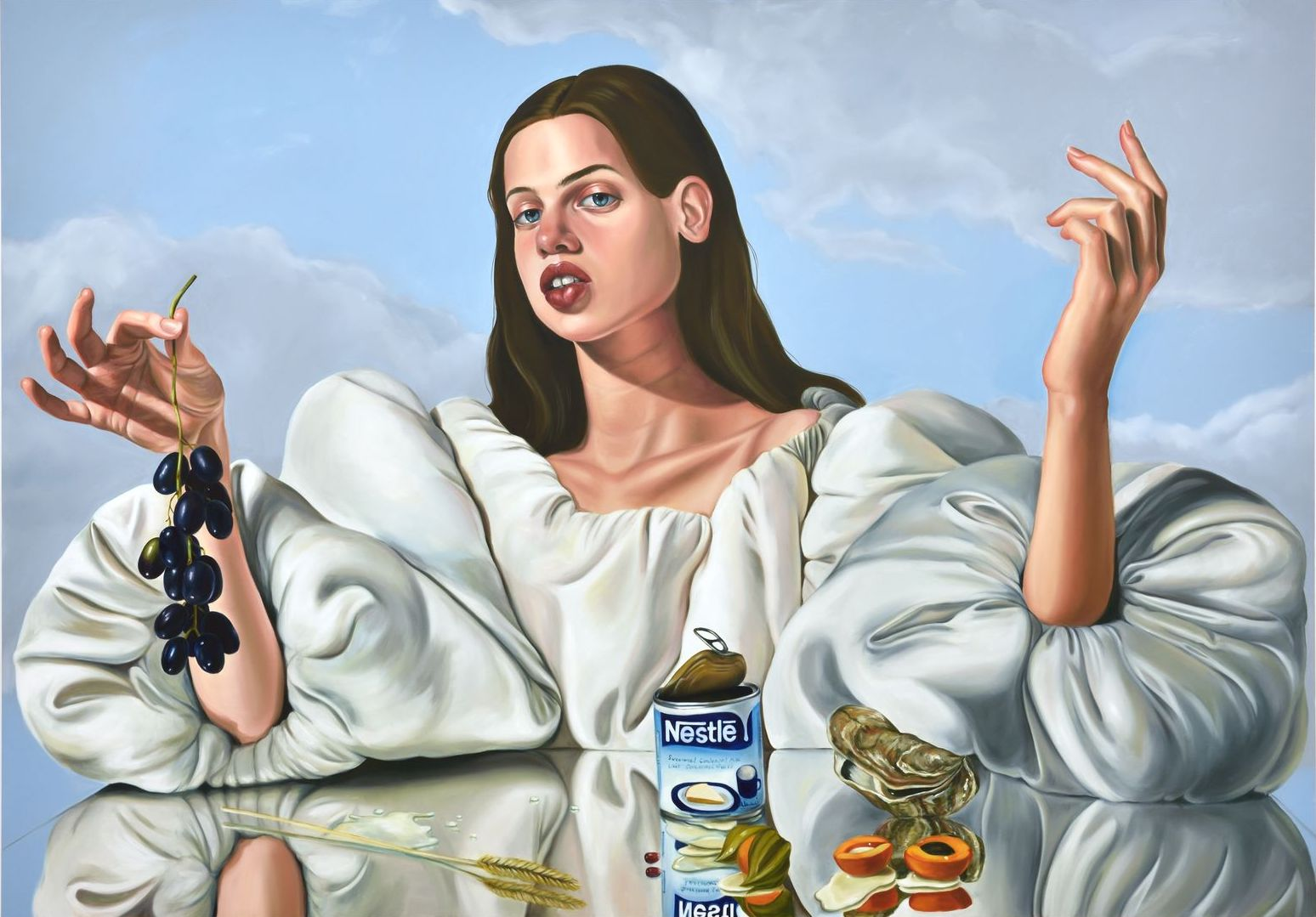 Chloe Wise, Lactose Tolerance, 2017. Oil on canvas © 2019 Chloe Wise / Artists Rights Society (ARS), New York