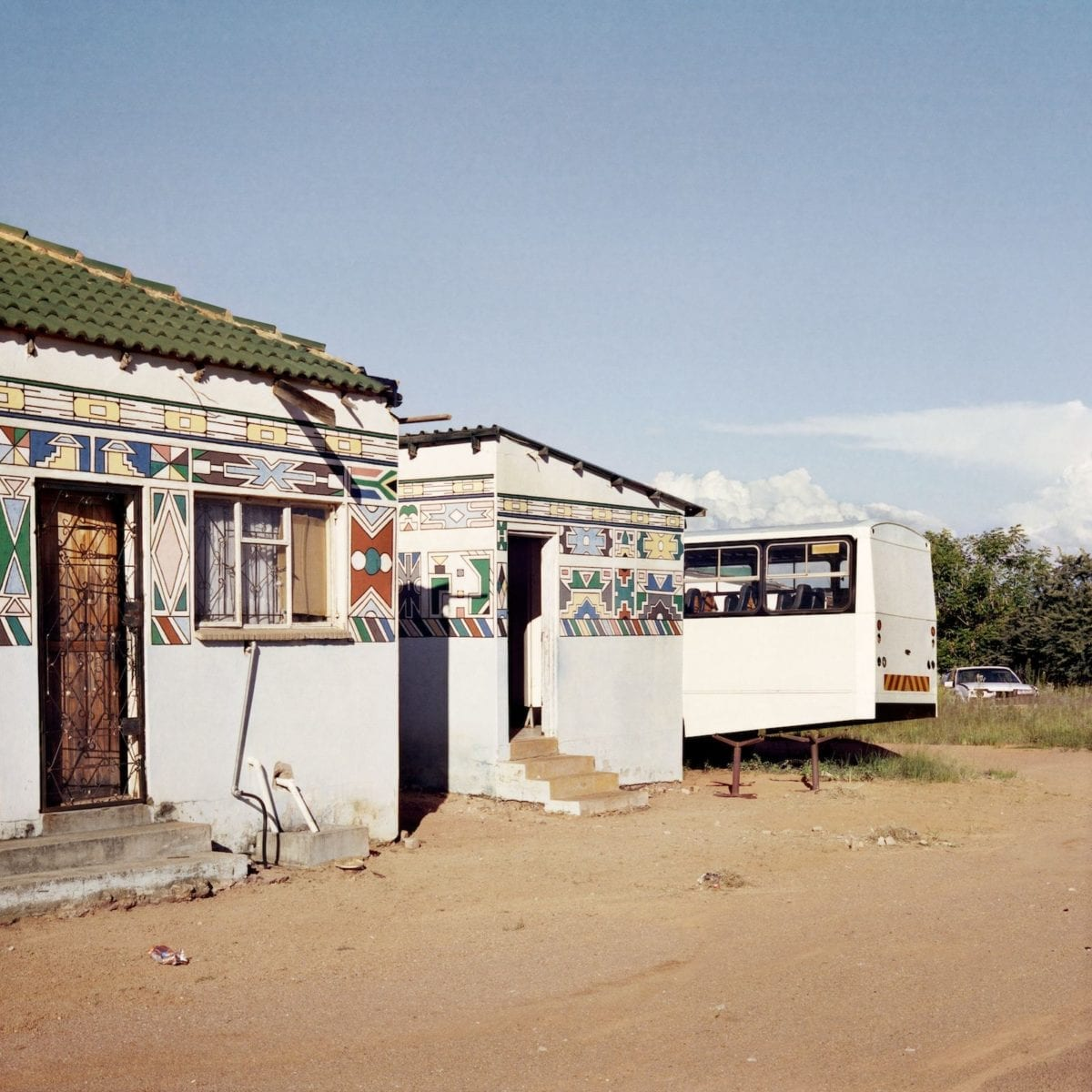 Homeland, Ndeble Art with New South African Flag, Siyabuswa, Former Kwandebele, 2011