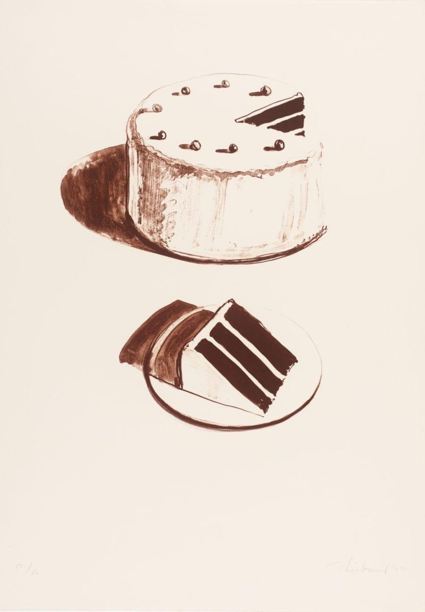 Wayne Thiebaud, Chocolate Cake, 1971. Tate. Purchased 1982 © DACS, 2019