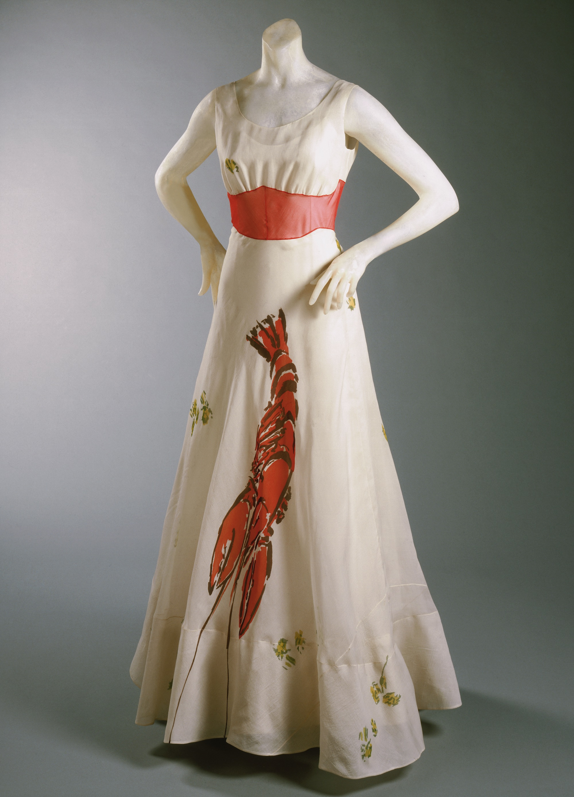 Salvador Dalí and Elsa Schiaparelli, Dinner Dress, 1937. Courtesy Philadelphia Museum of Art: Gift of Mme Elsa Schiaparelli, 1969