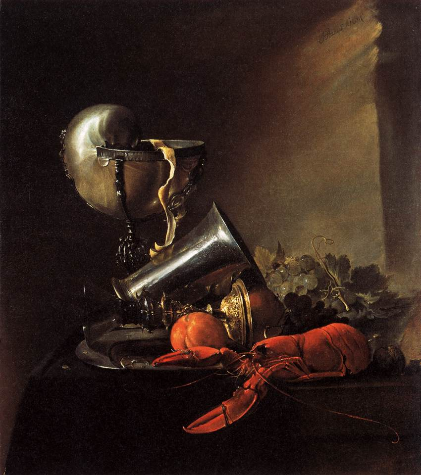 Jan Davidsz. de Heem, Still Life with Lobster and Nautillus Cup, 1634