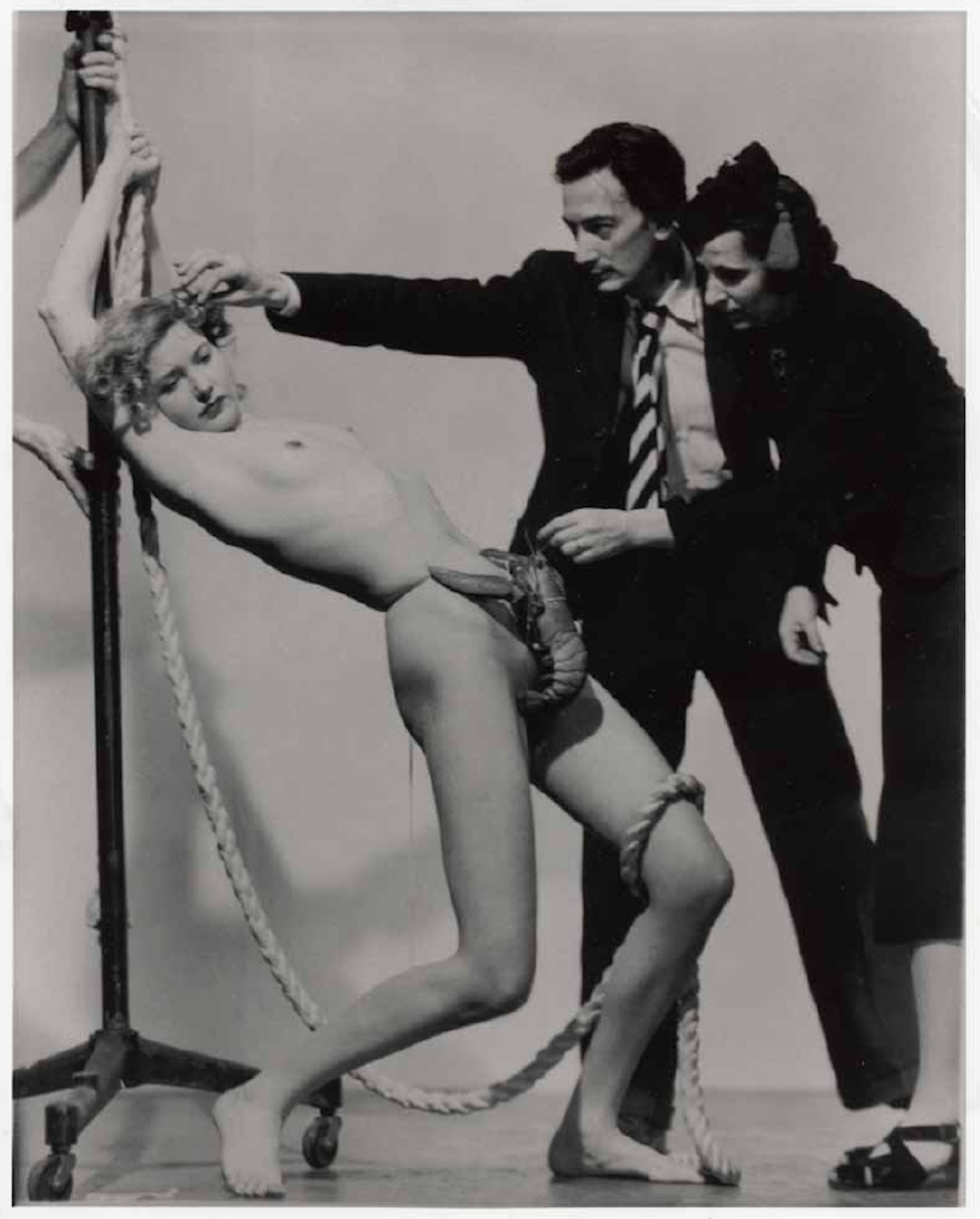 Salvador Dali, Wife Gala and a Strategically Placed Lobster For Dali's Dream of Venus exhibit, 1939 World's Fair. Photo by Murray Korman. Courtesy the Estate of Murray Korman