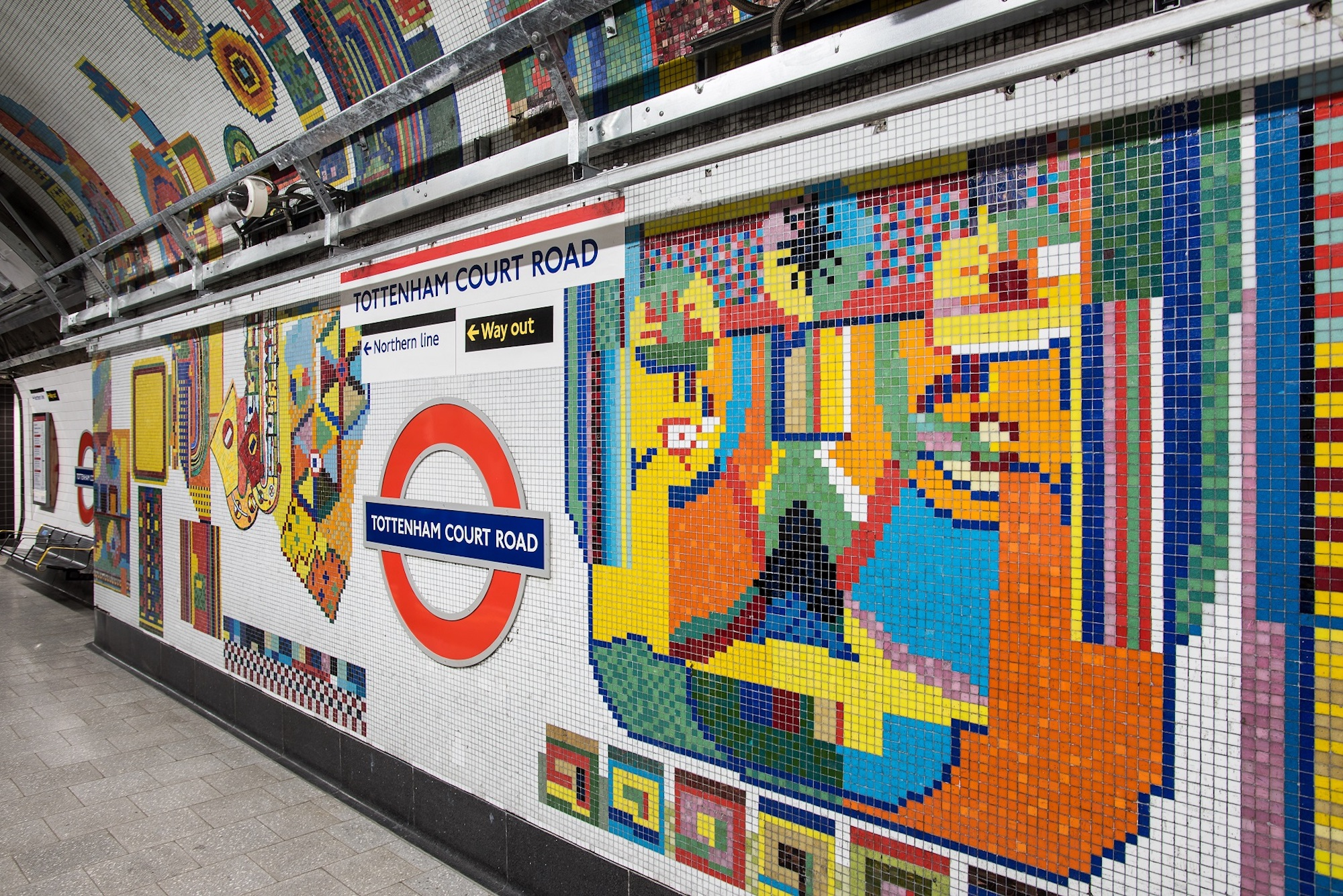 Eduardo Paolozzi at Tottenham Court Road