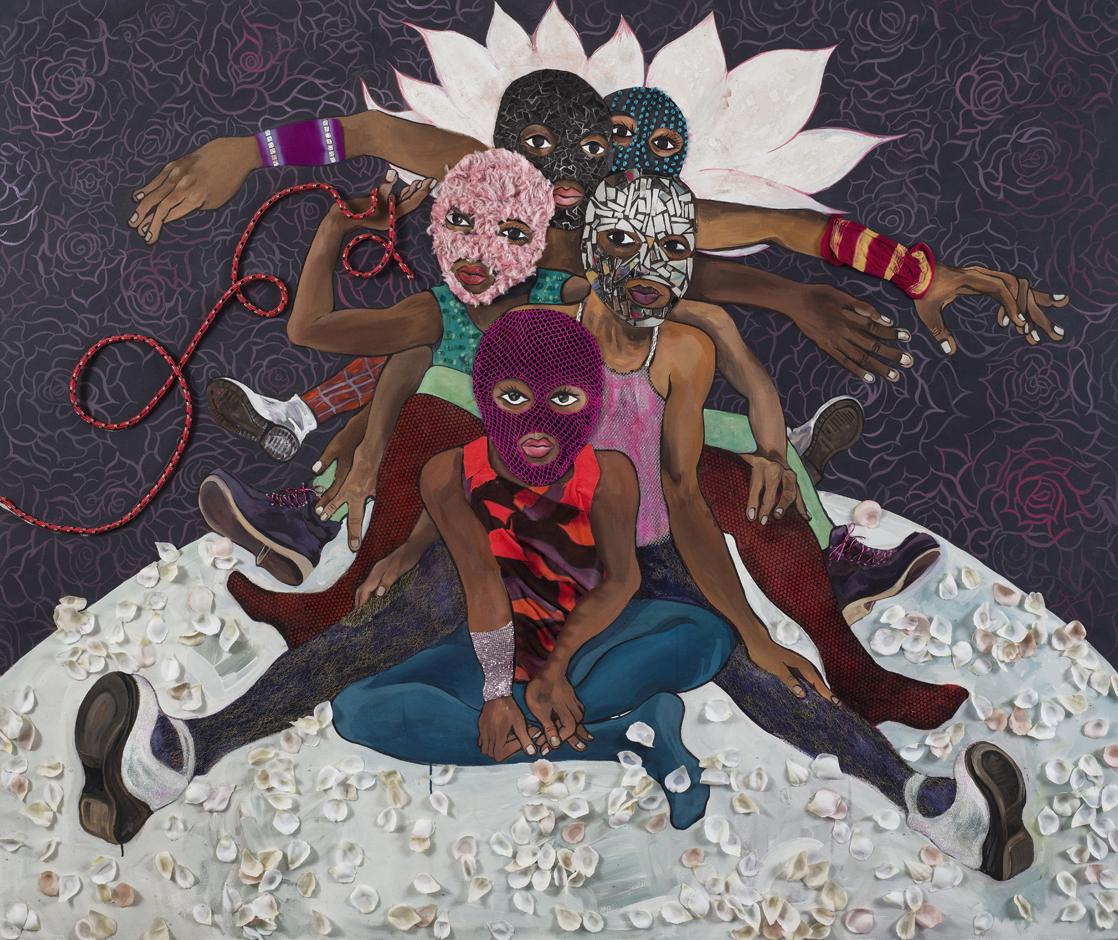 Chitra Ganesh, Pussy Riot, 2015. Courtesy Gallery Wendi Norris