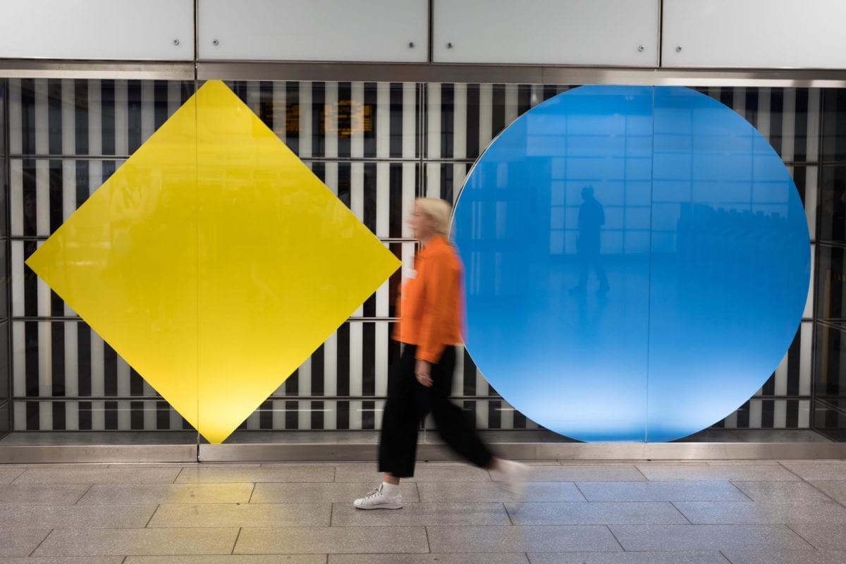 Daniel, Buren, 'Diamonds and Circles' works 'in situ'. Photo; 2017, David Parry_PA Wire_01