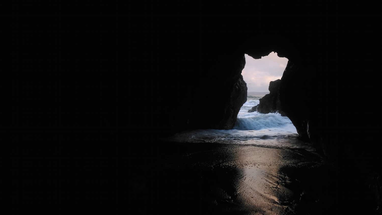 Entirely hollow aside from the dark, Photo by AlanJames Burns, Smugglers Cave, Portrane, Co Dublin
