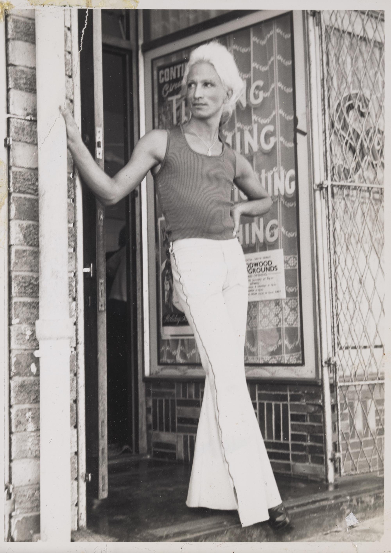 Kewpie Outside of Salon Kewpie, 1970s