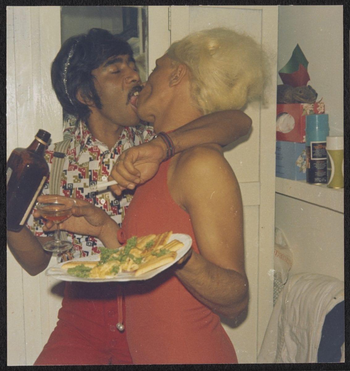 Brian and Kewpie in Kewpie's bedroom, circa 1960 to 1985