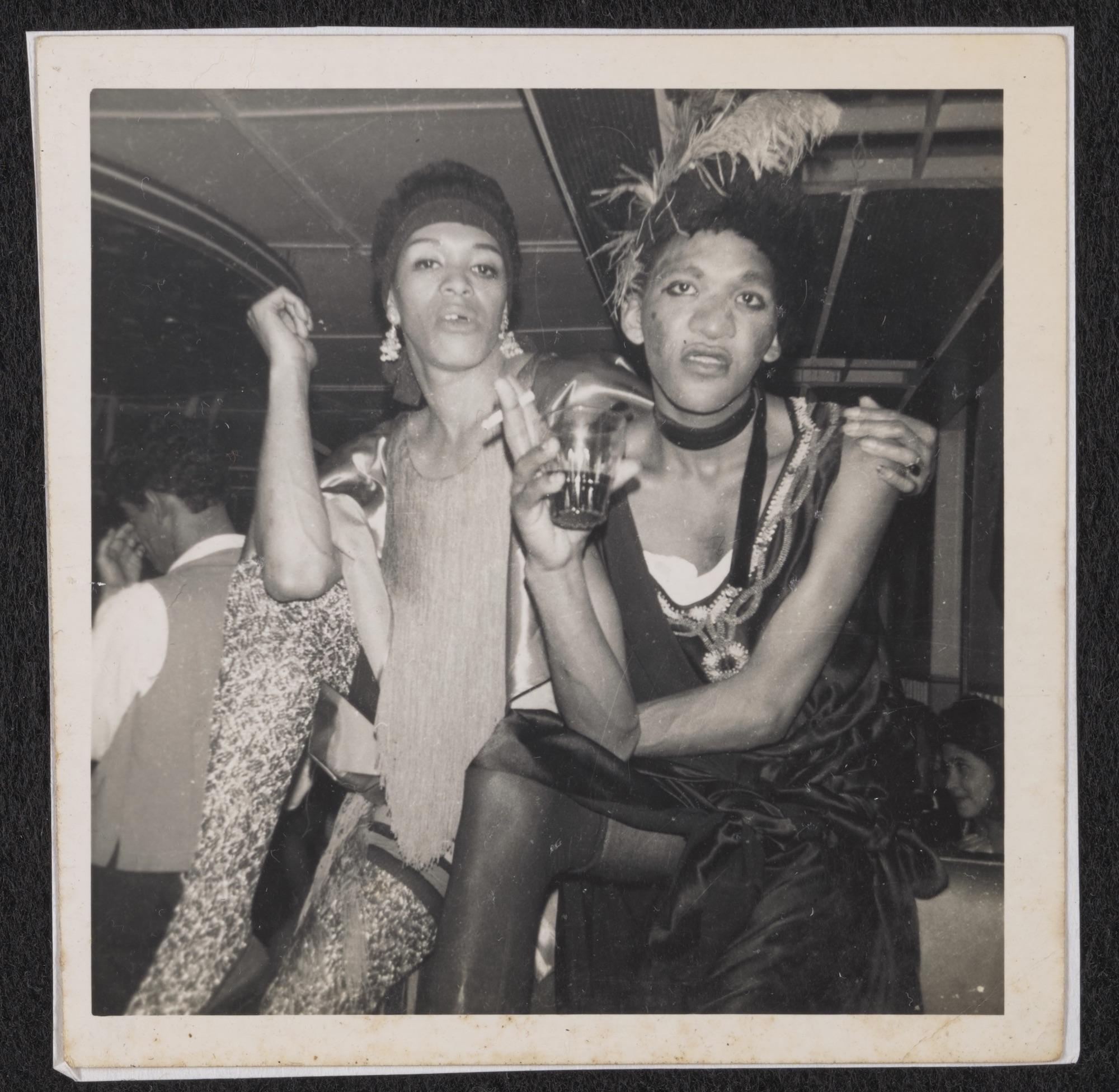 Mitzy and Bassey at the Roaring '20s Night at the Ambassador Club, circa 1950 to 1985
