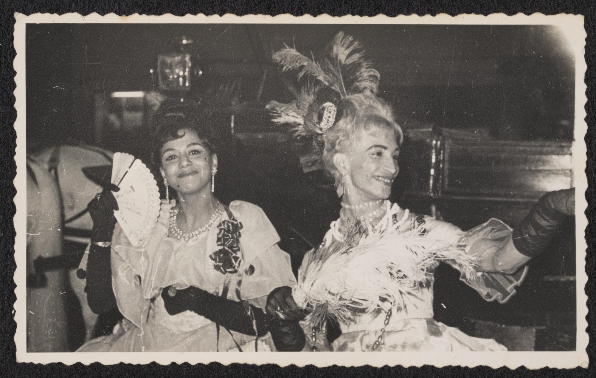 Sodia and Kewpie at the Marie Antoinette Ball at the Ambassador Club, circa 1950 to circa 1985