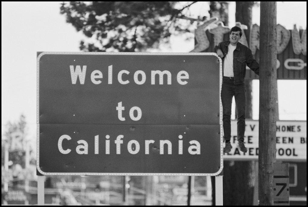Dennis Stock, State Border Lake Tahoe, California 1968, from California Trip