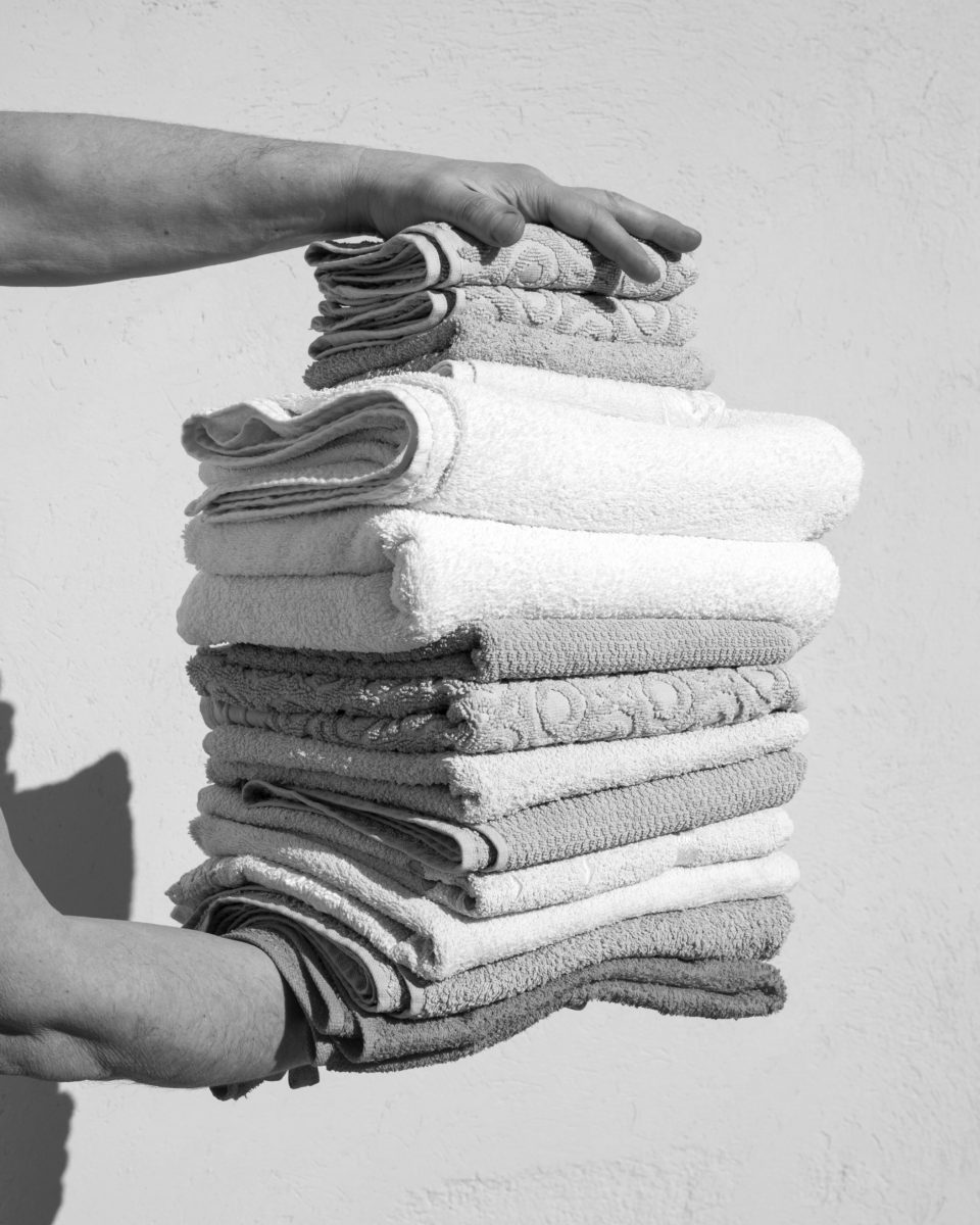 Eleonora Agnosti, Folded Towels, 2018