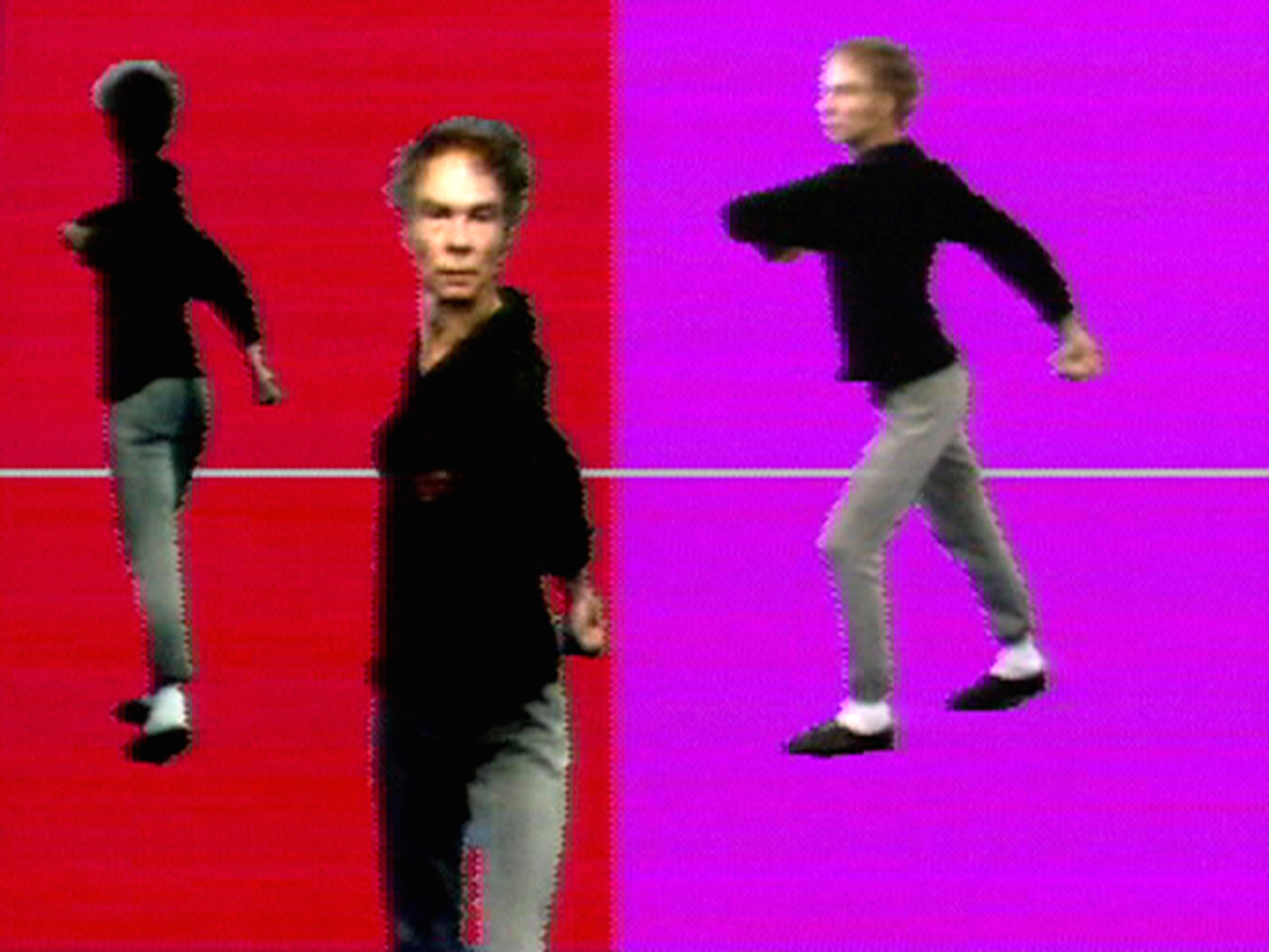 Nam June Paik and Shigeko Kubota, Merce by Merce by Paik Part Two: Merce and Marcel Part of Merce by Merce by Nam June Paik. In collaboration with Charles Atlas, Merce Cunningham, and Shigeko Kubota. Courtesy of Electronic Arts Intermix (EAI), New York and the Estate of Nam June Paik