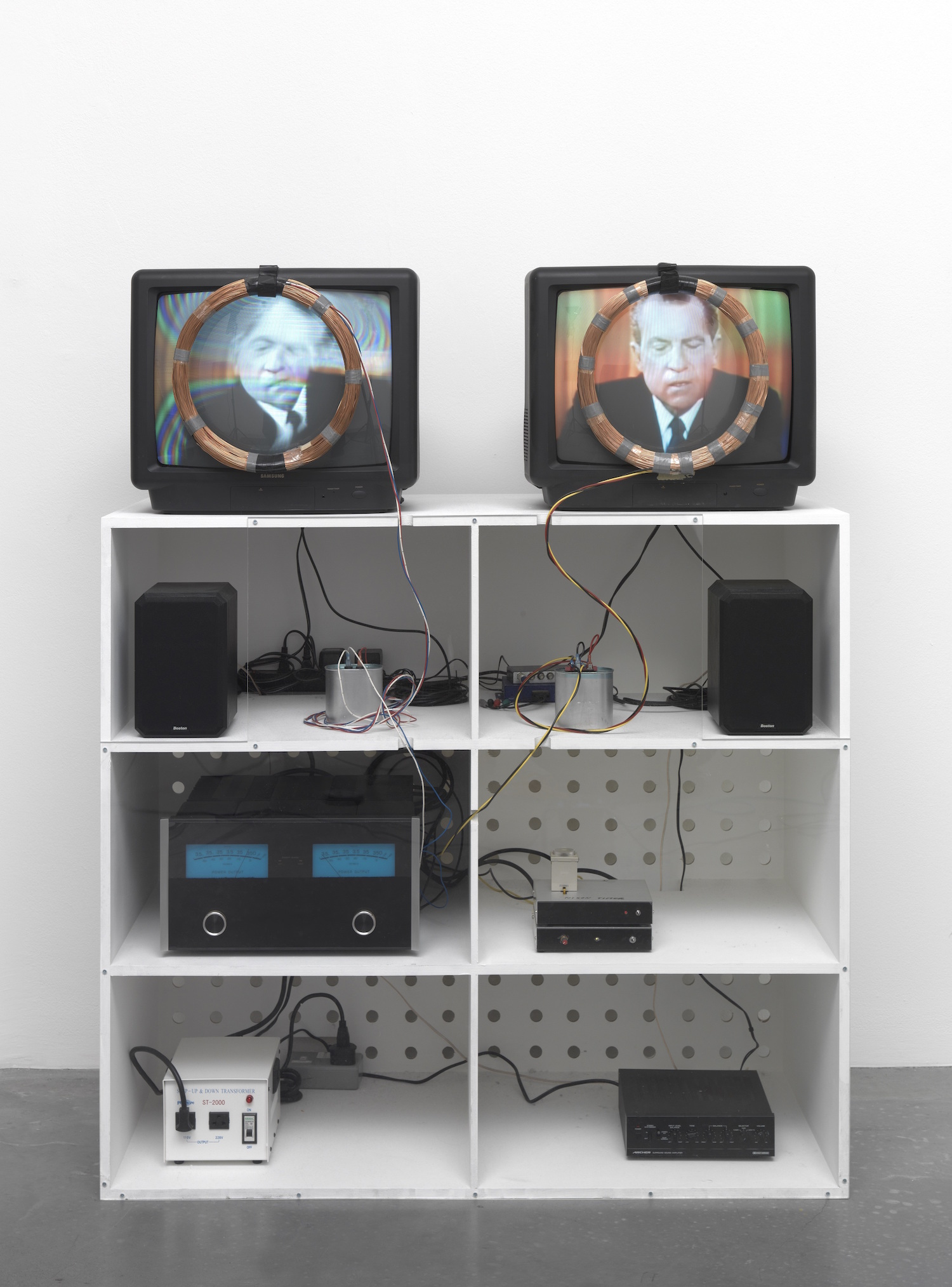 Nam June Paik, Nixon 1965-2002. Tate, Purchased with funds provided by Hyundai Motor Company