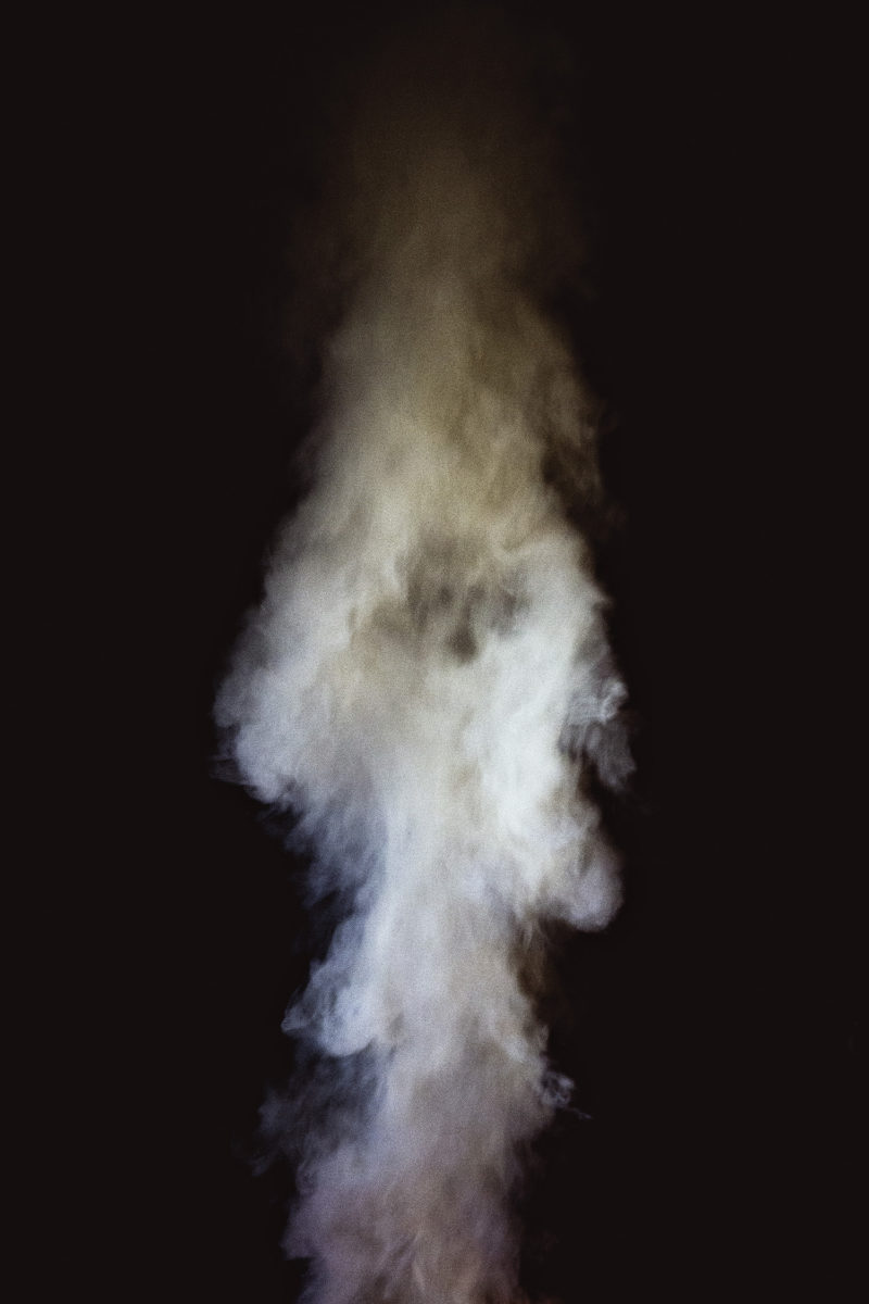 Instrumental-transcommunication and smoke-scrying experiment outside the séance room, England, 2013.  From Séance by Shannon Taggart