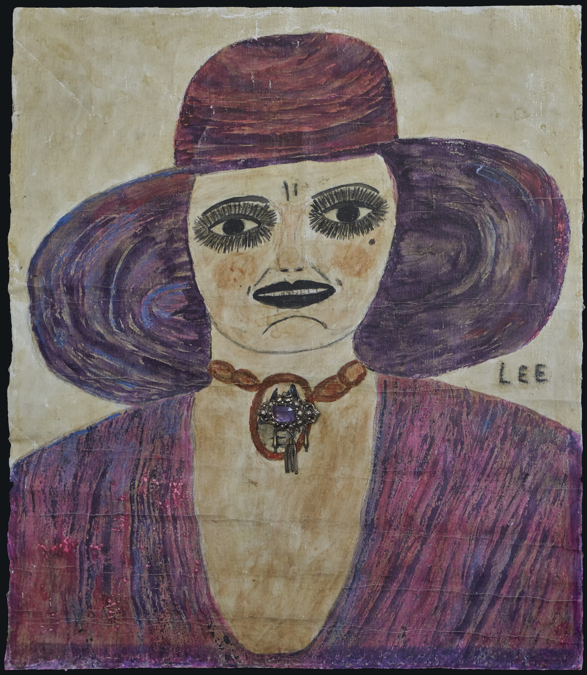 Lee Godie, Untitled (girl/portrait), n.d. Collection of Intuit: The Center for Intuitive and Outsider Art, museum purchase with funds provided by Dale Taylor and Angela Lustig, 2018.1.5.Photo© John Faier