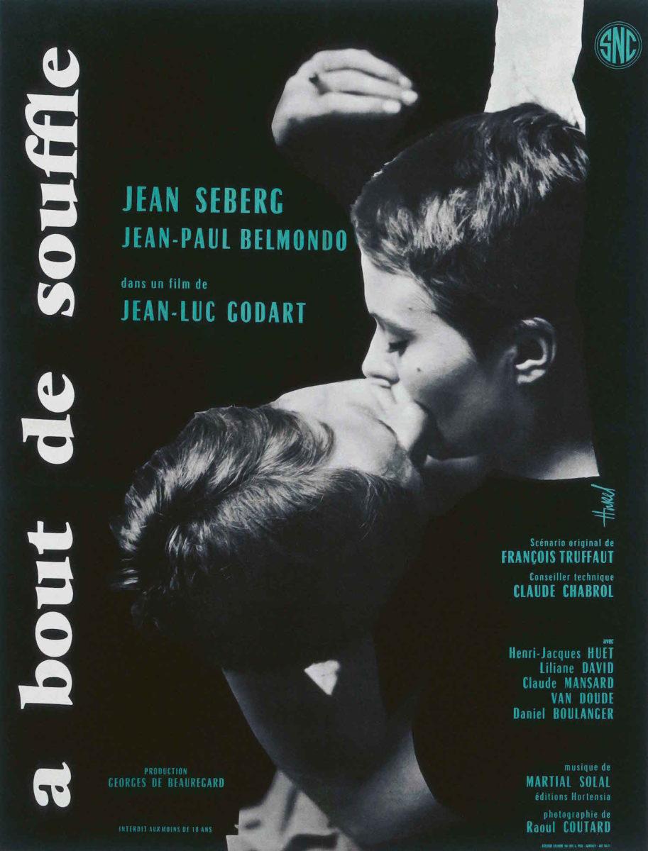 À bout de souffle (1960), French half sheet, style A, first printing 'Godart' Clément Hurel