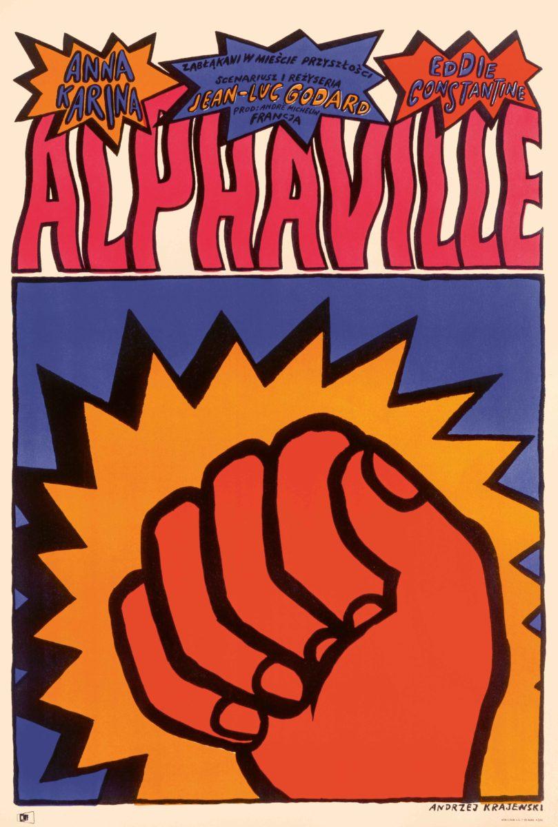 Alphaville (1965), Polish one sheet Andrzej Krajewski