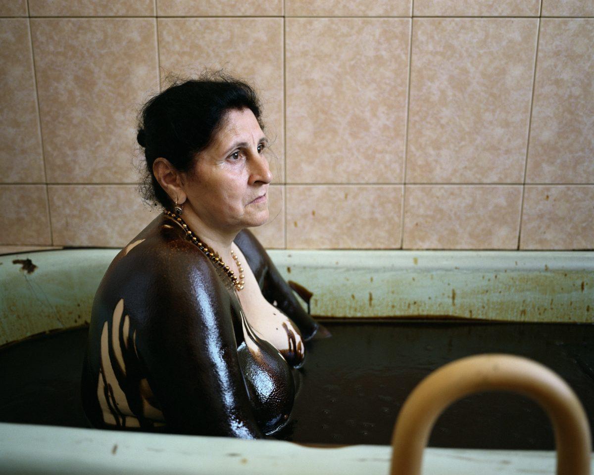 Chloe Dewe Matthews, 'Albina Visilova, a regular visitor to the Naftalan Sanatorium.' Naftalan, Azerbaijan, 2010