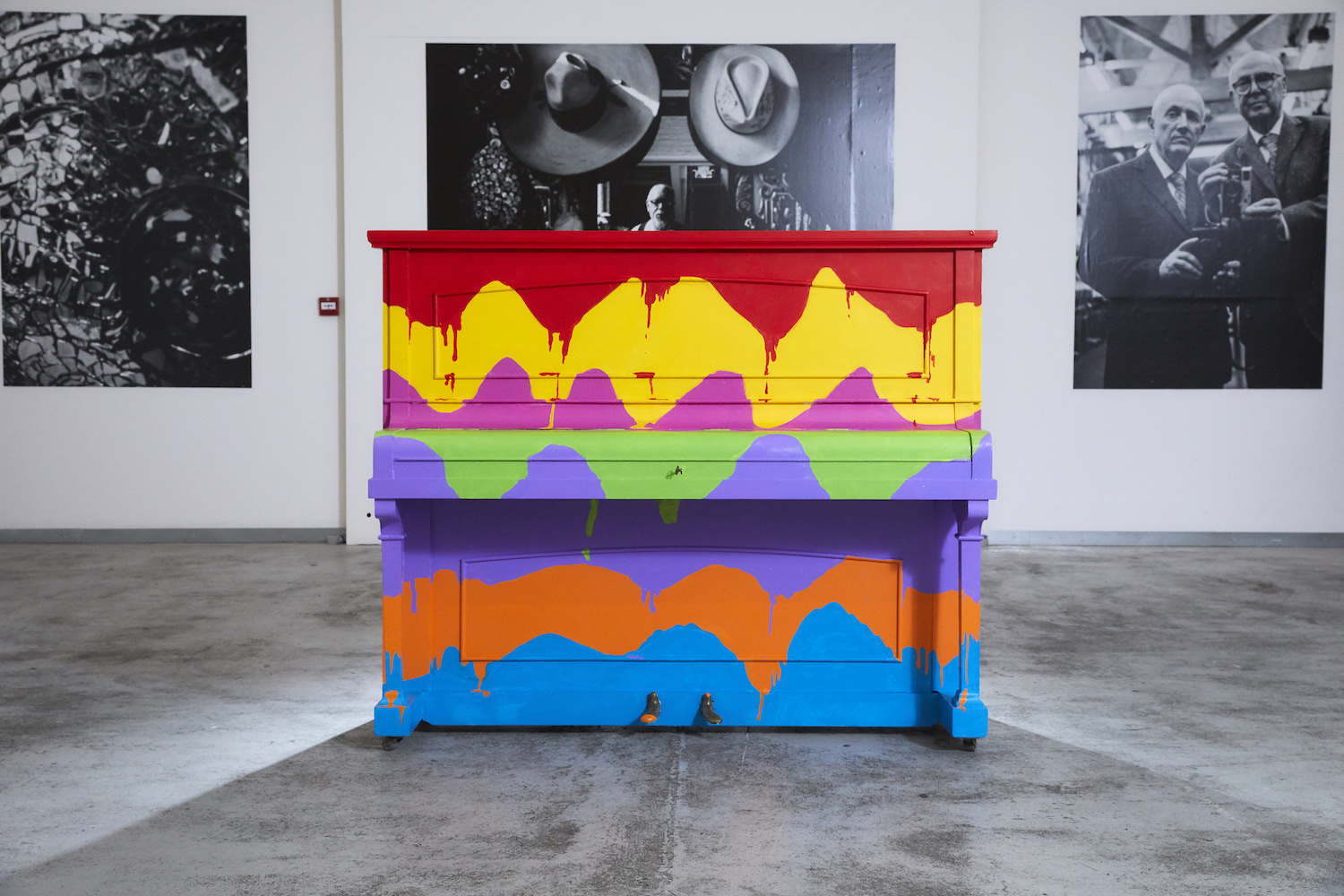 Express Yourself, The Sing for Hope London piano, designed and painted by Stuart Semple