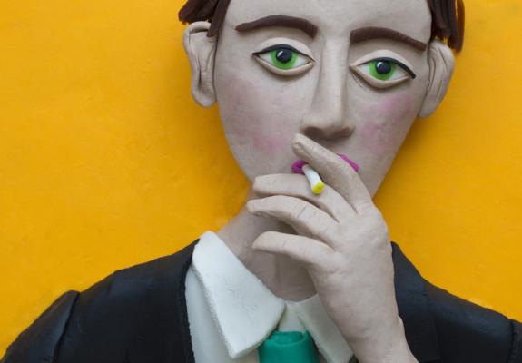 Jacques-Andre Boiffard, self-portrait in photomaton_Eleanor Macnair
