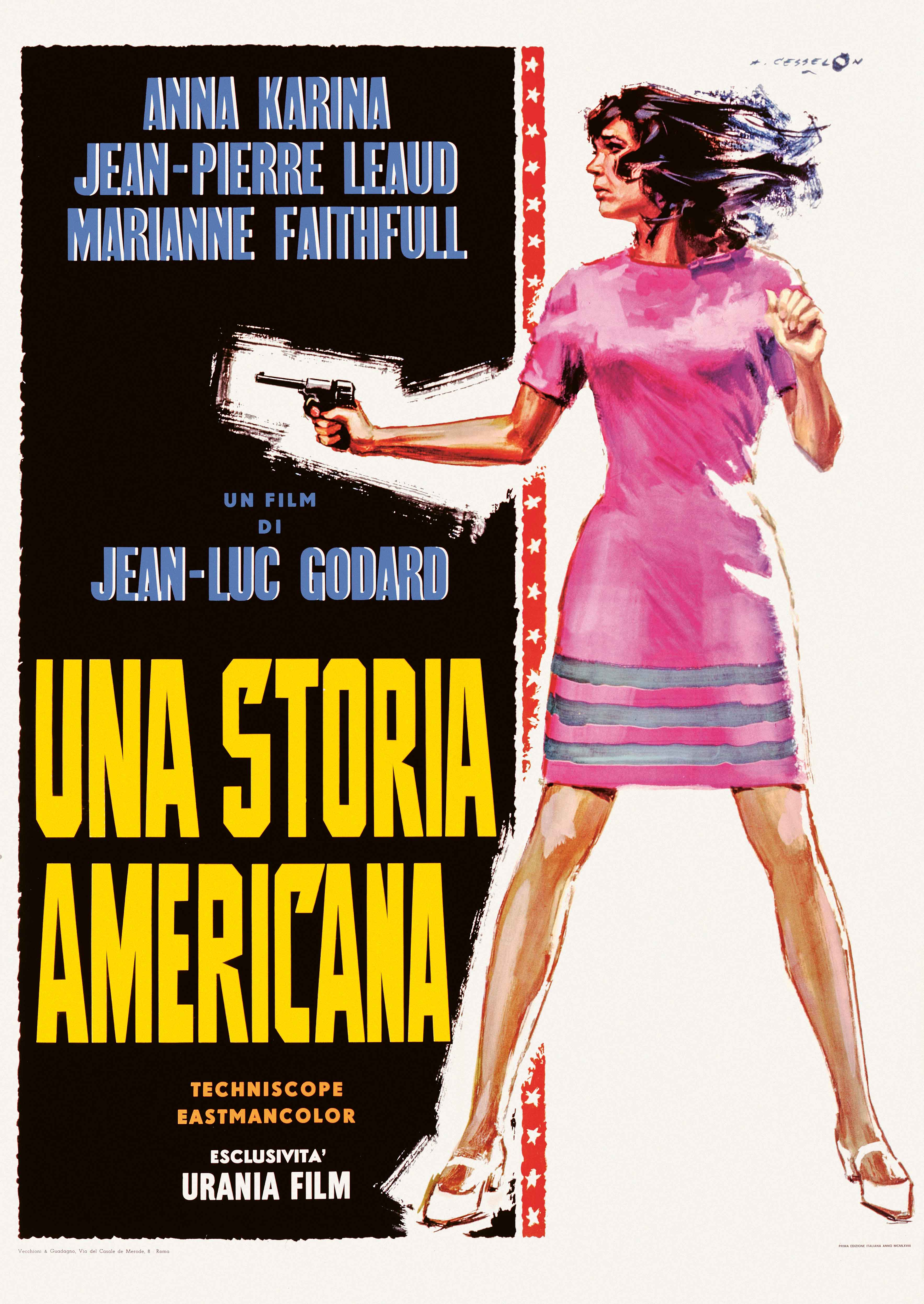 Made in USA (1966), Italian four sheet Angelo Cesselon