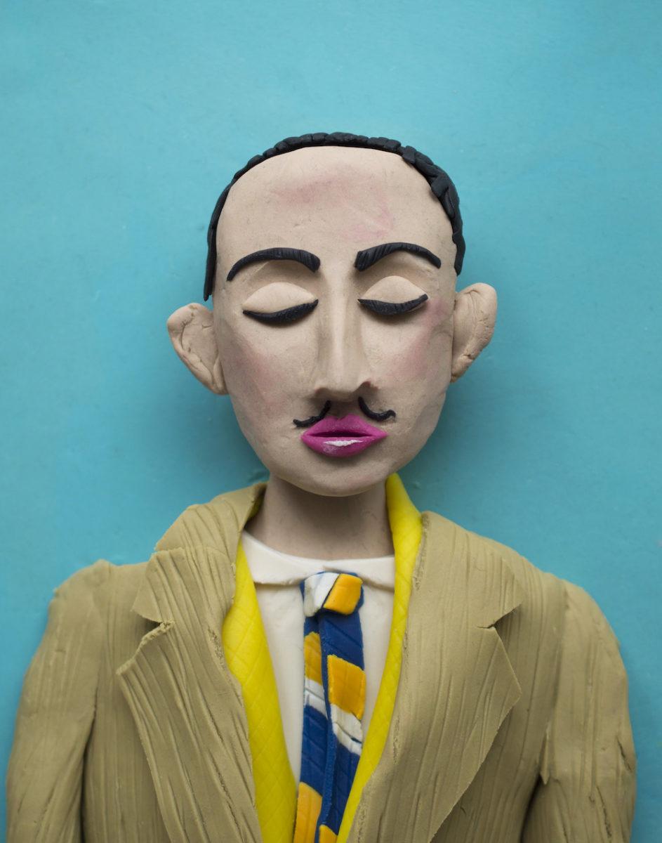 Salvador Dali, self-portrait in photomaton_Eleanor Macnair