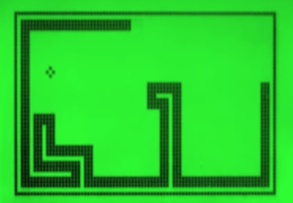 Screen shot of Snake Gameplay as set to Laurei Anderson's O Superman, By Mimmo Rubino