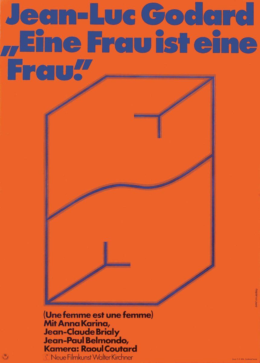 Une Femme est une femme (1961), German one sheet Hans Hillmann